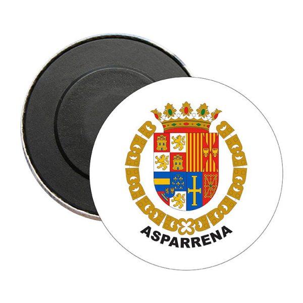 iman redondo escudo heraldico asparrena