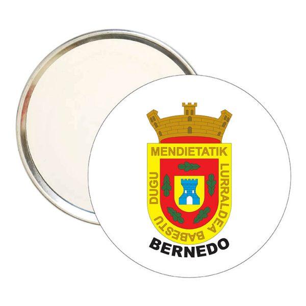 espejo redondo escudo heraldico bernedo