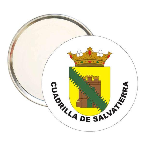 espejo redondo escudo heraldico cuadrilla de salvatierra
