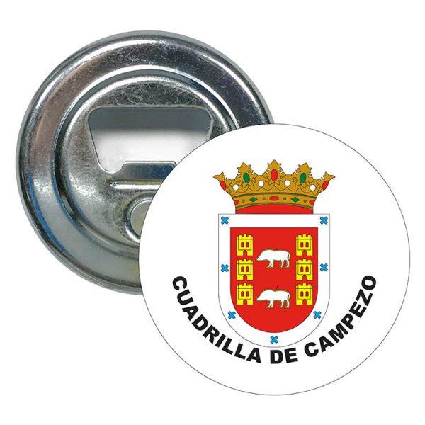 abridor redondo escudo heraldico cuadrilla de campezo