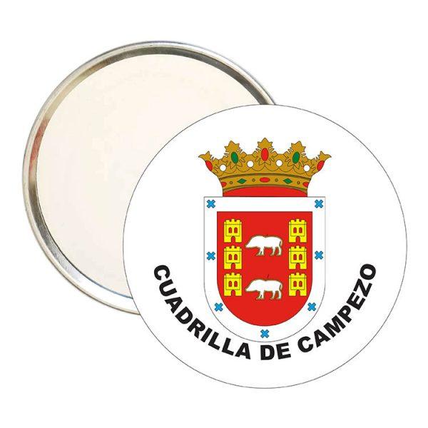 espejo redondo escudo heraldico cuadrilla de campezo