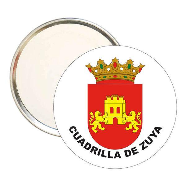 espejo redondo escudo heraldico cuadrilla de zuya