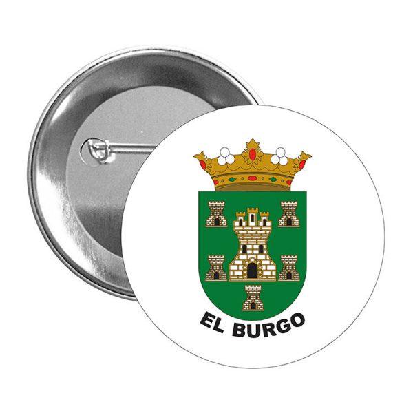 chapa escudo heraldico el burgo