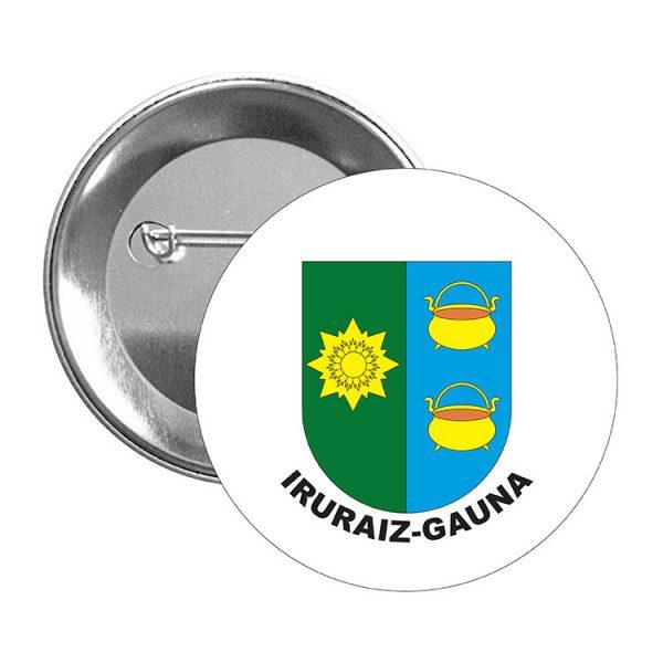 chapa escudo heraldico iruraiz gauna