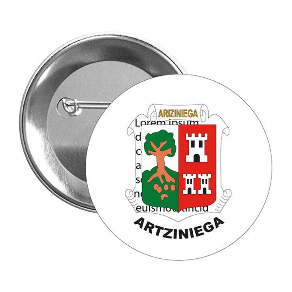 chapa escudo heraldico artziniega