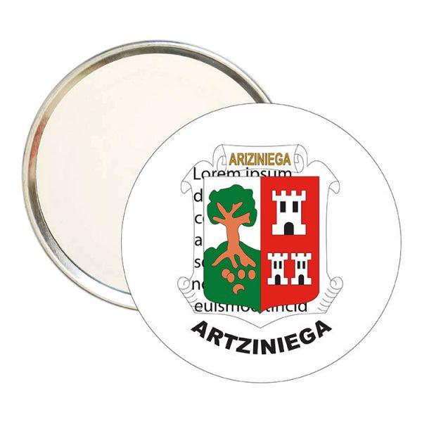 espejo redondo escudo heraldico artziniega