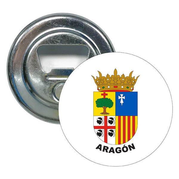 abridor redondo escudo heraldico aragon