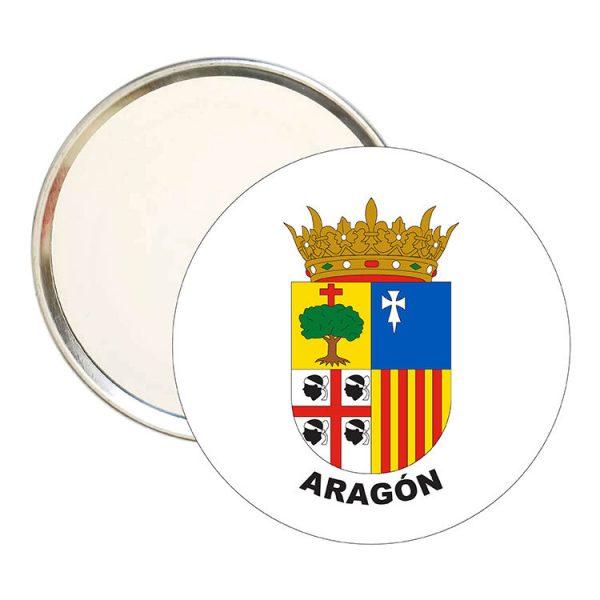 espejo redondo escudo heraldico aragon