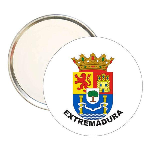 espejo redondo escudo heraldico extremadura