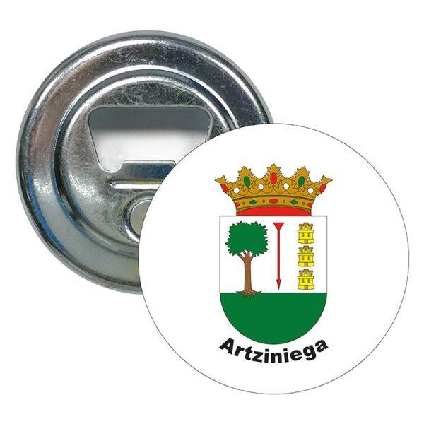 abridor redondo escudo heraldico artziniega