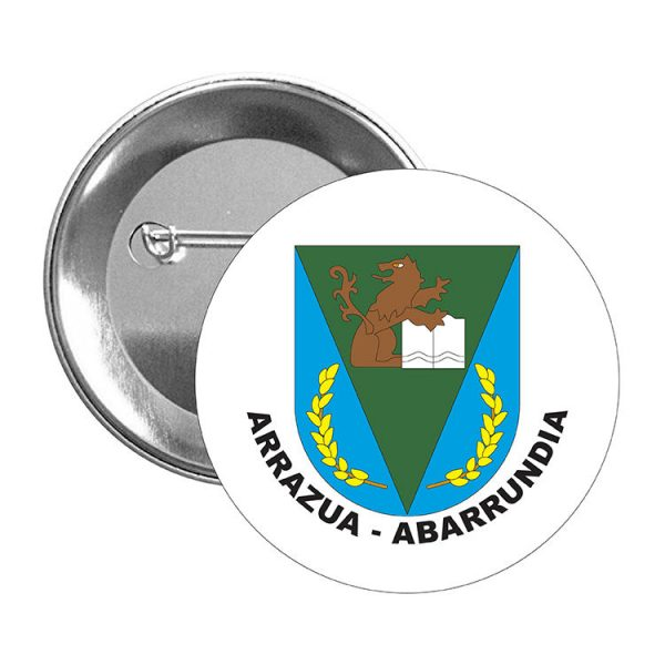 chapa escudo heraldico arrazua abarrundia