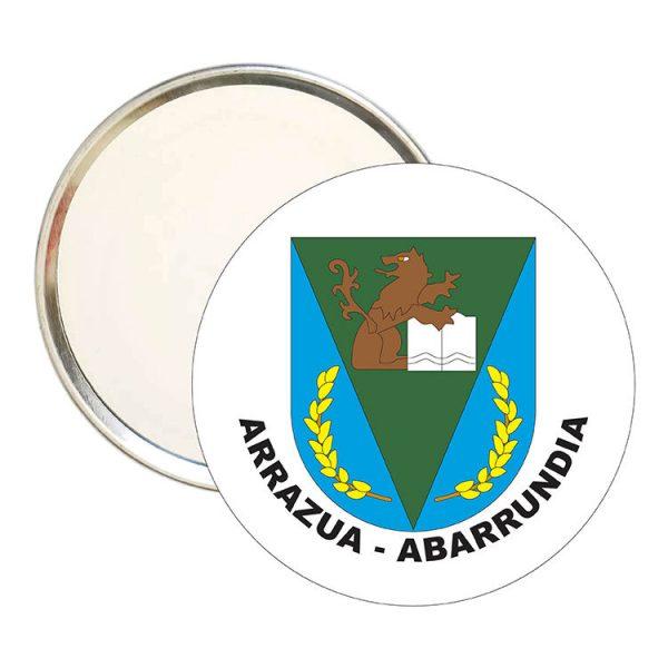 espejo redondo escudo heraldico arrazua abarrundia