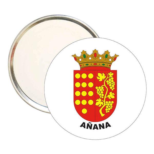 espejo redondo escudo heraldico anana
