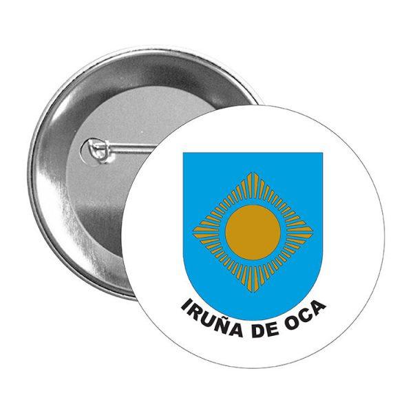 chapa escudo heraldico iruna de oca