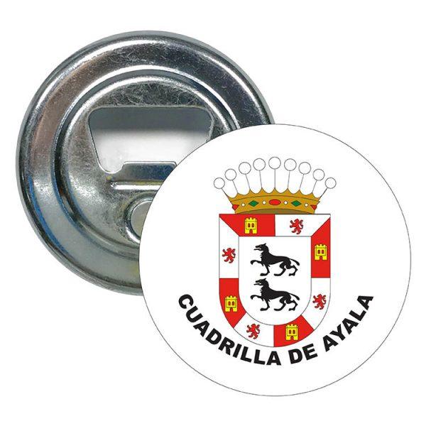abridor redondo escudo heraldico cuadrilla de ayala