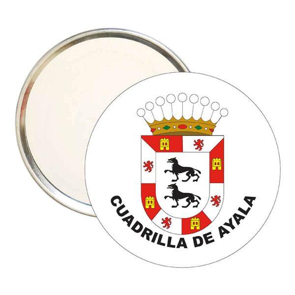 espejo redondo escudo heraldico cuadrilla de ayala