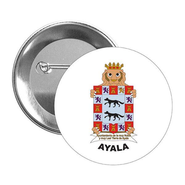 chapa escudo heraldico ayala