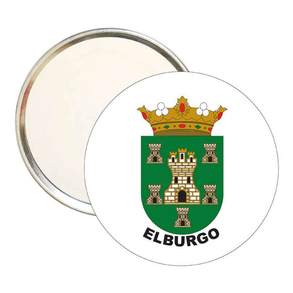 espejo redondo escudo heraldico elburgo