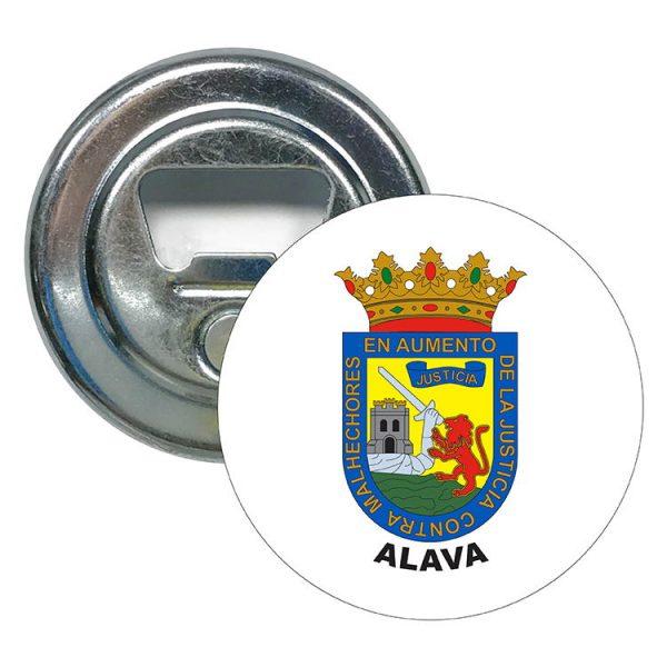abridor redondo escudo heraldico alava