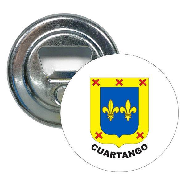 abridor redondo escudo heraldico cuartango