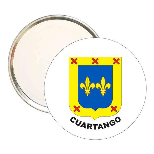 espejo redondo escudo heraldico cuartango