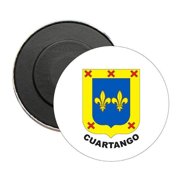 iman redondo escudo heraldico cuartango