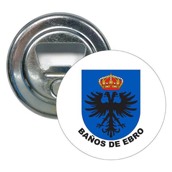 abridor redondo escudo heraldico banos de ebro