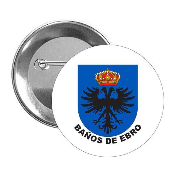 chapa escudo heraldico banos de ebro