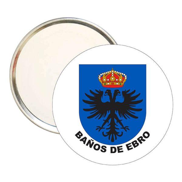 espejo redondo escudo heraldico banos de ebro
