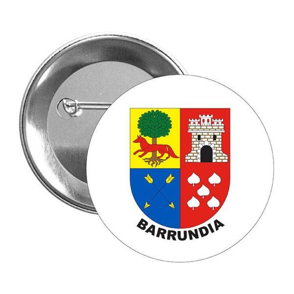 chapa escudo heraldico barrundia