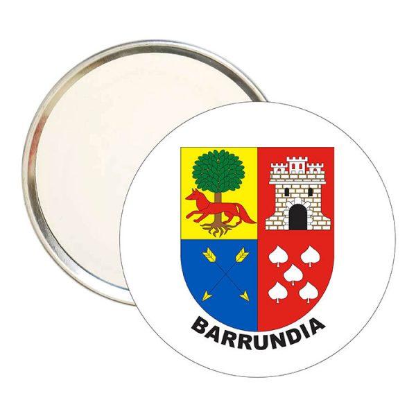 espejo redondo escudo heraldico barrundia