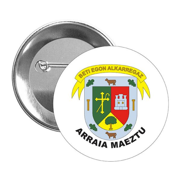 chapa escudo heraldico arraia maeztu