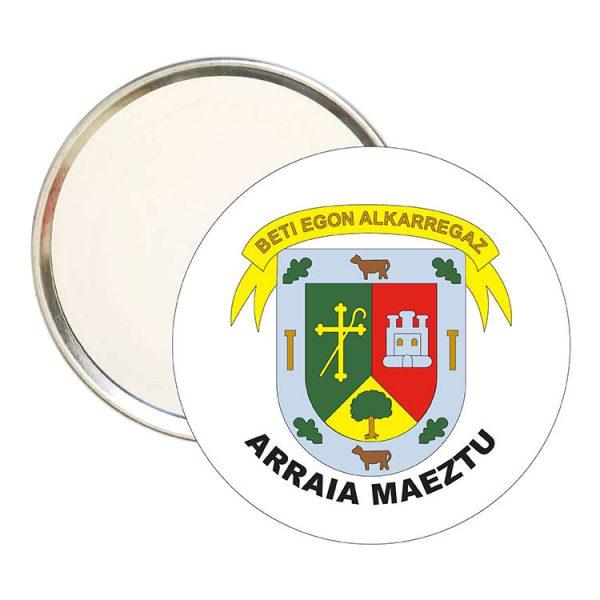 espejo redondo escudo heraldico arraia maeztu