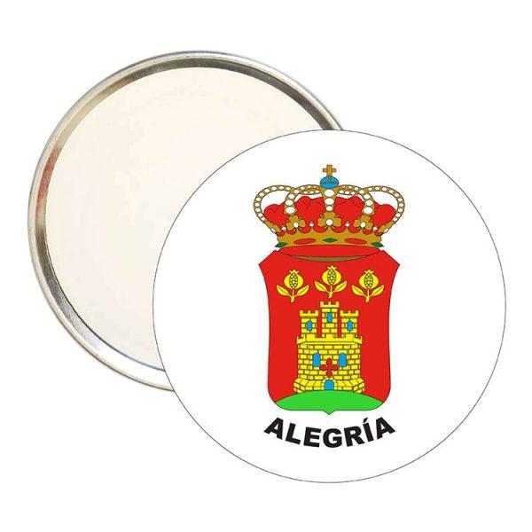 espejo redondo escudo heraldico alegria