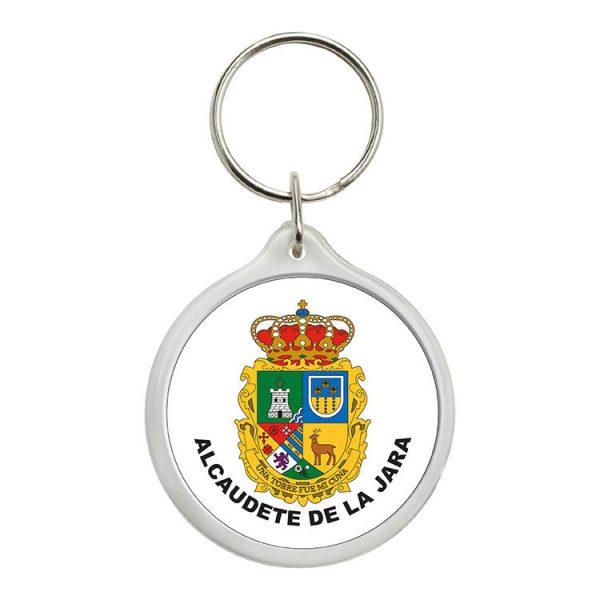 llavero redondo escudo heraldico alcaudete de la jara