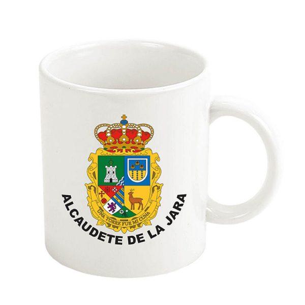 taza escudo heraldico alcaudete de la jara