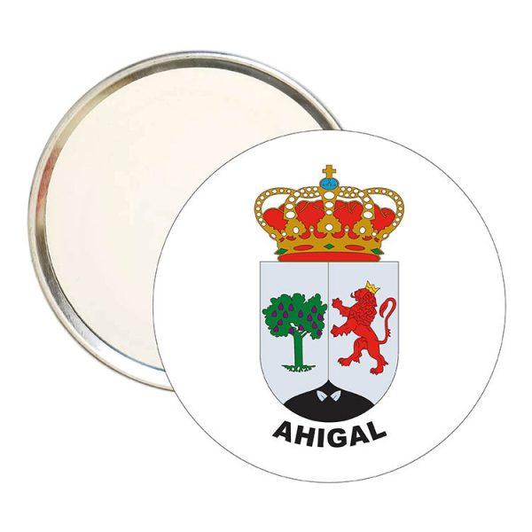 espejo redondo escudo heraldico ahigal