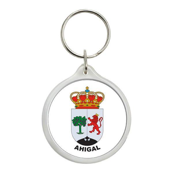 llavero redondo escudo heraldico ahigal