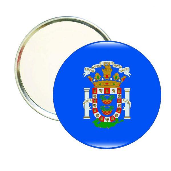 espejo redondo escudo melilla