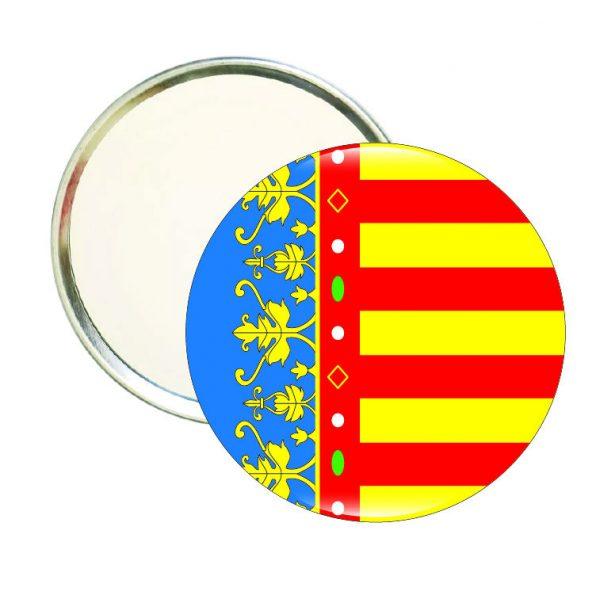 espejo redondo bandera c valenciana