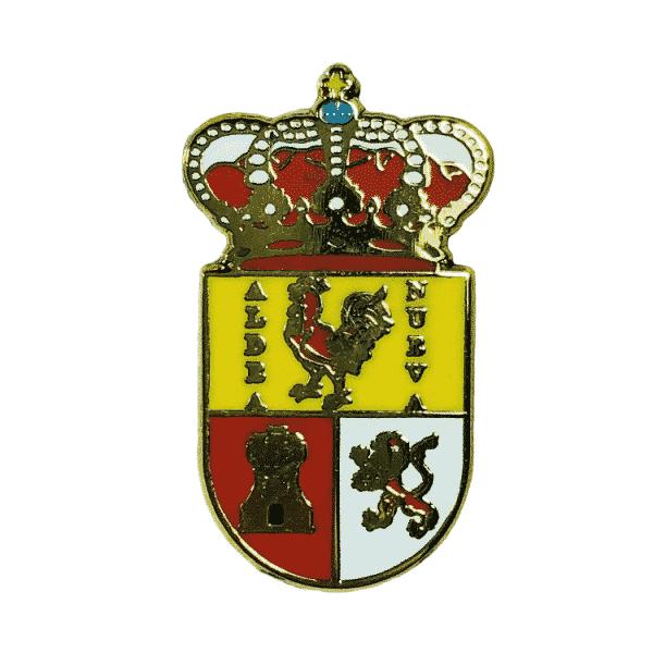 pin escudo heraldico aldeanueva de guadalajara guadalajara