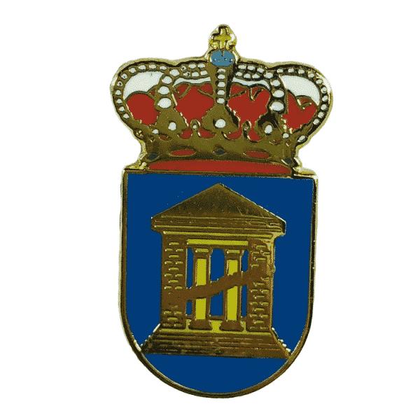 pin escudo heraldico velilla de zinca huesca