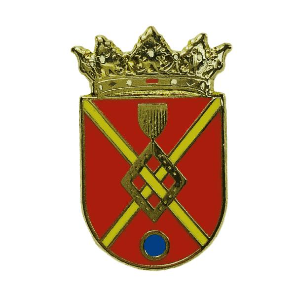 pin escudo heraldico villar de los navarros zaragoza