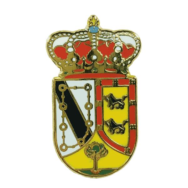 pin escudo heraldico villaverde de iscar segovia