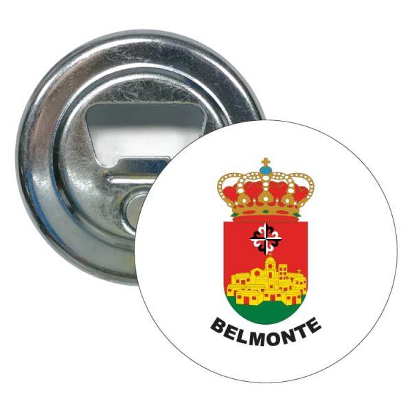 abridor redondo escudo heraldico belmonte