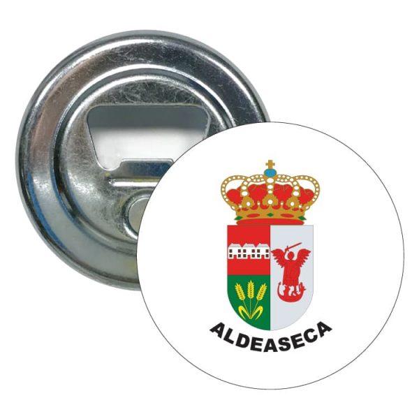 abridor redondo escudo heraldico aldeaseca
