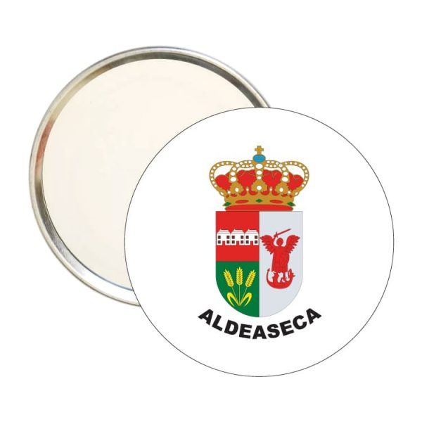 espejo redondo escudo heraldico aldeaseca