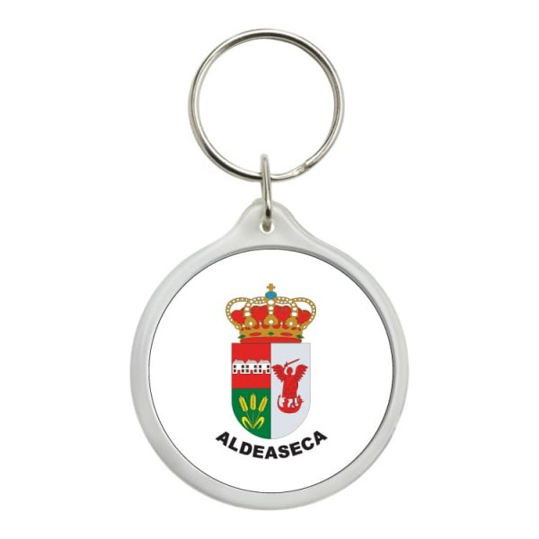 llavero redondo escudo heraldico aldeaseca