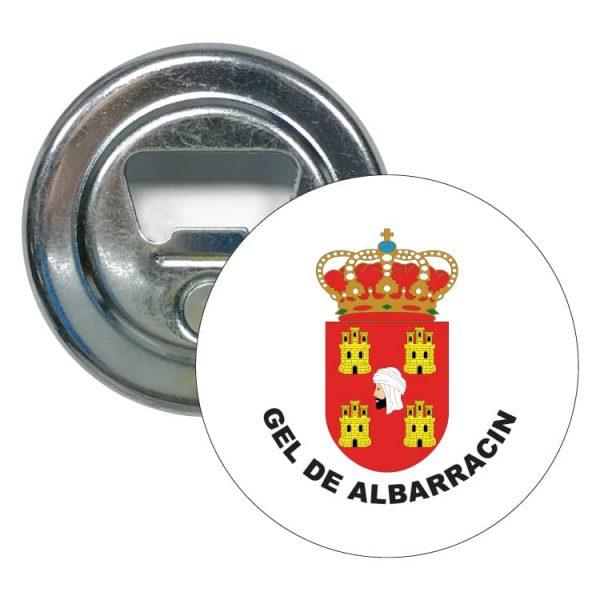 abridor redondo escudo heraldico gel de albarracin