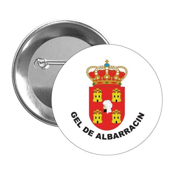 chapa escudo heraldico gel de albarracin